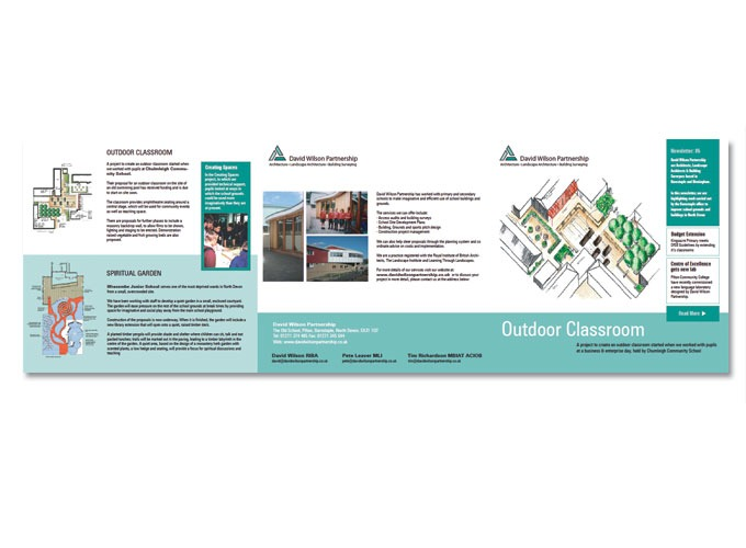 Fold out leaflet for David Wilson Partnership