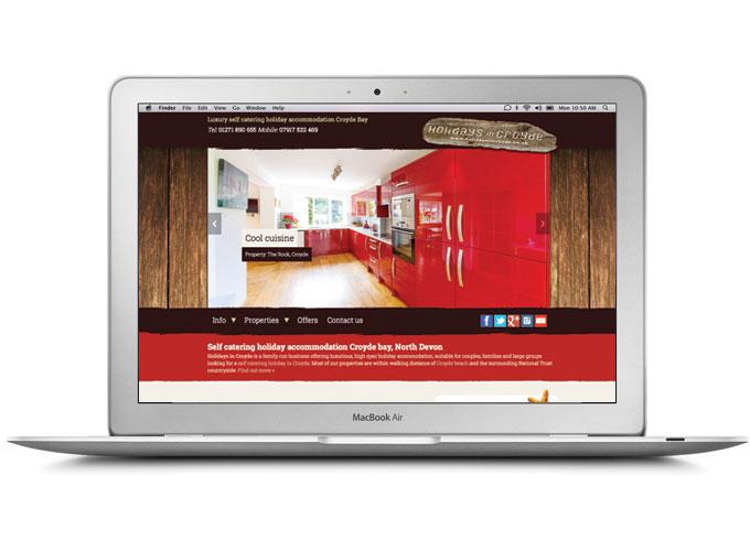 Holidays in Croyde web design by North Devon Design