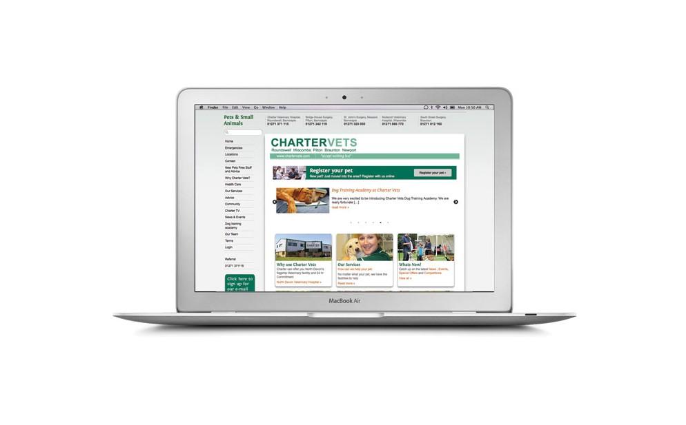 Charter Vets website