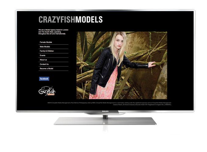 Crazyfish model agency web design by North Devon Design