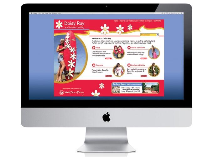 Daisy Ray surf clothing web design by North Devon Design