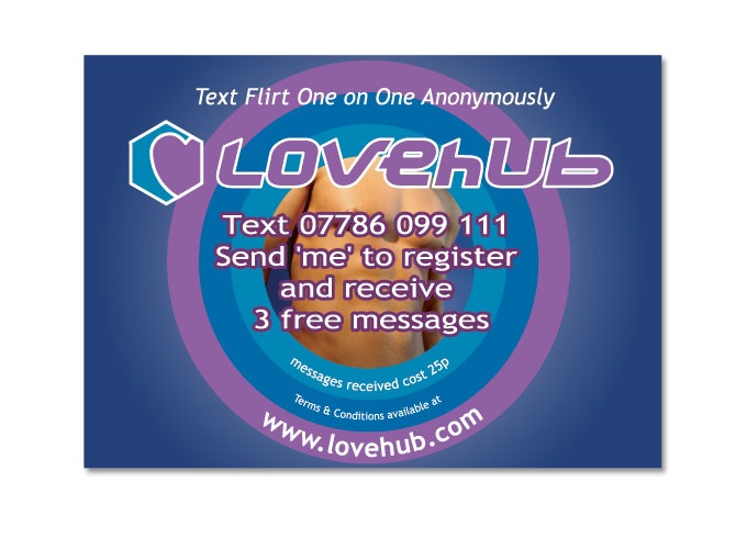 Promotional postcard for Lovehub