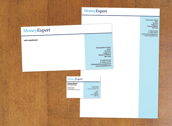 Money Expert business stationary
