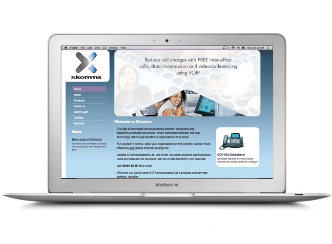 XKomms communications brochure site