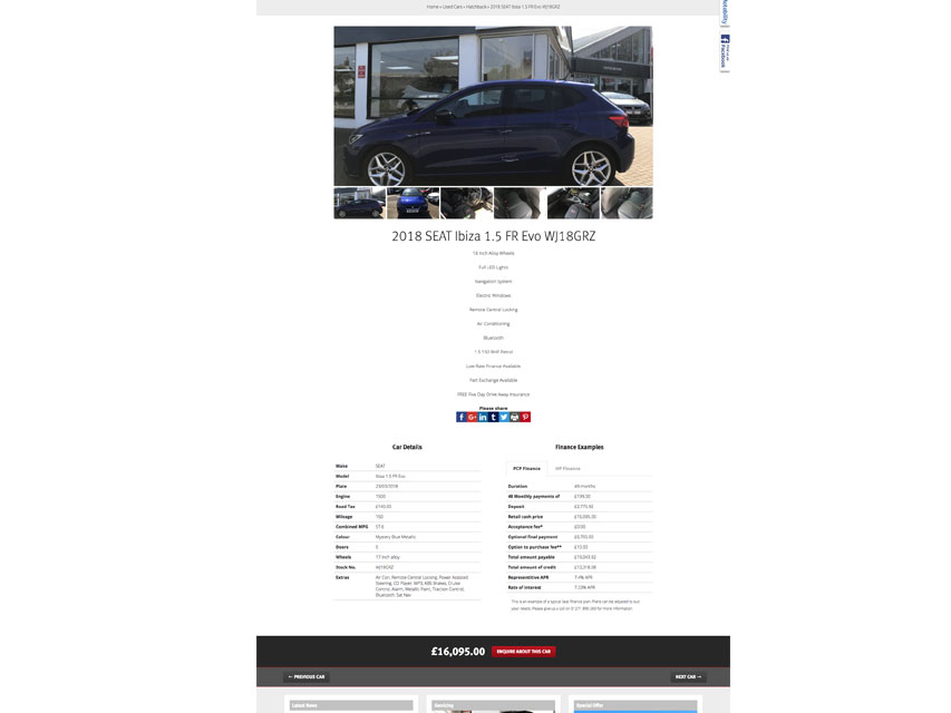 Croyde Motors website used car