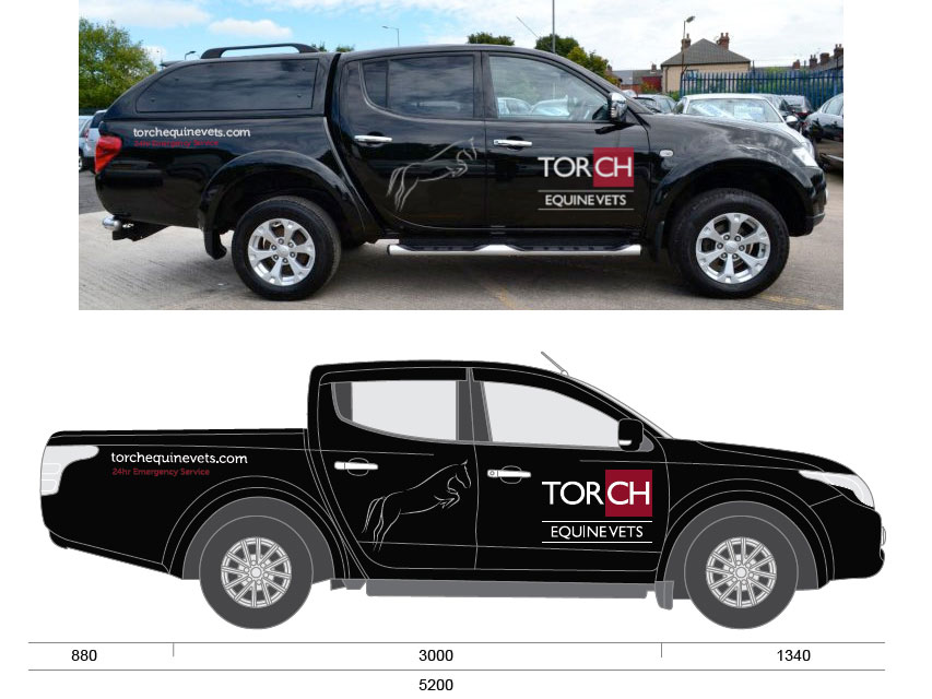 Torch vets vehicle livery