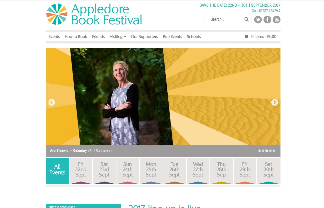 Appledore Book Festival ticket sales