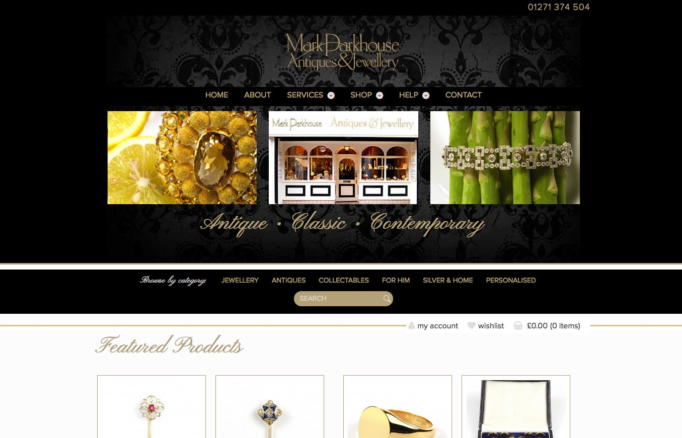 Mark Parkhouse antique jewelery online shop