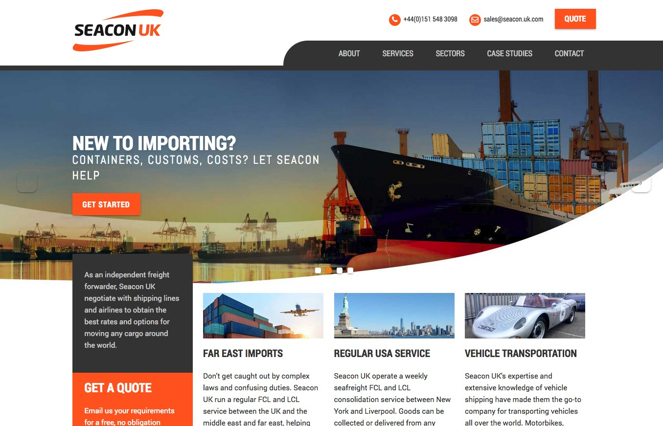 Seacon UK logistics website