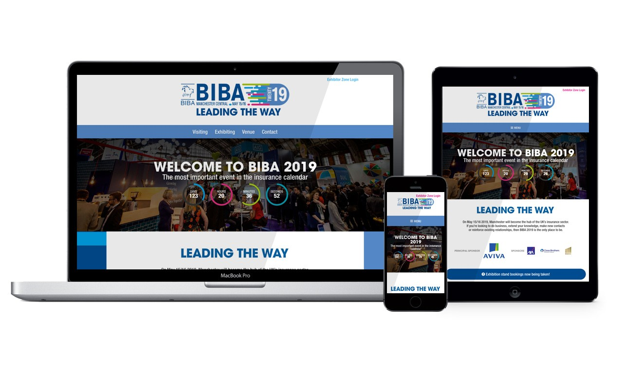 BIBA 2019 exhibition and conference website